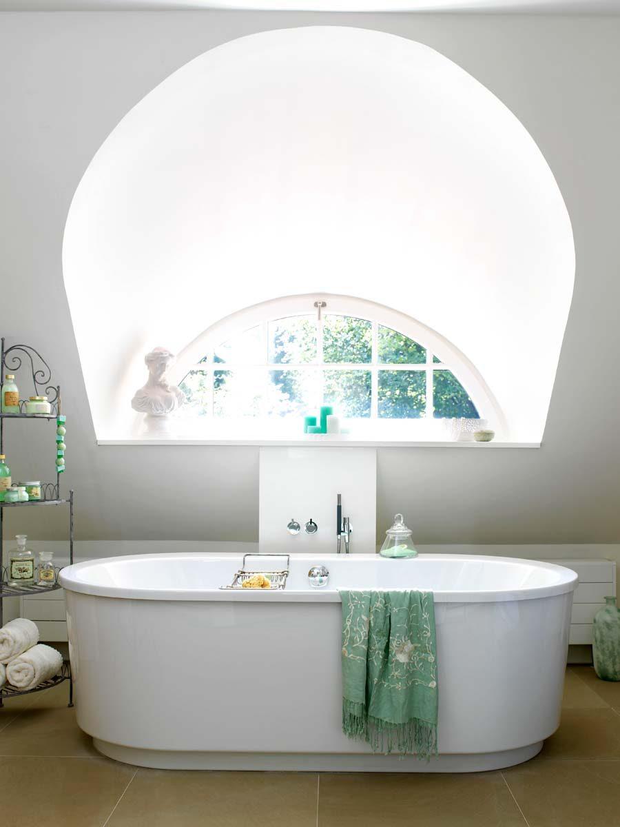Badkamer in zeegroen